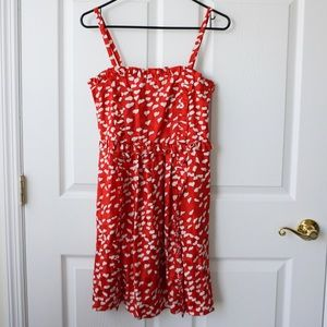 Marc by Marc Jacobs red white heart print dress